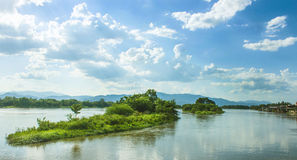 Middle Island Ping River in Tak district. Stock Photography