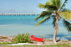 In the middle of the Keys, Florida, January 2007 stock images