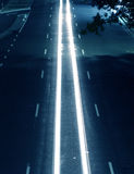 Middle Lane. Lone Car Trail Royalty Free Stock Photos