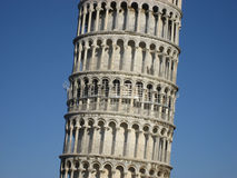 Middle of the leaning tower. A picture of the middle section of the Leaning Tower of Pisa in Pisa, Tuscany, Italy royalty free stock photography