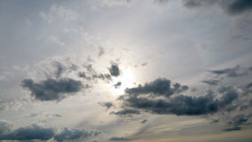 Middle level with low stratus cloud formations on a sunny late afternoon. Middle level with low stratus cloud formations on a sunny late afternoon in spring are Royalty Free Stock Photo