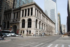 Middle of Michigan avenue Stock Photo