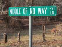 Middle Of No Way sign Royalty Free Stock Image