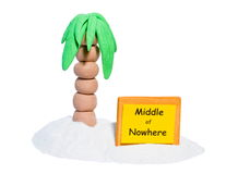 Middle of nowhere Stock Photography