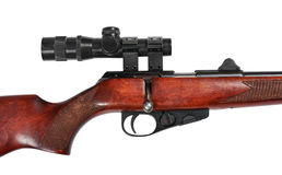 Middle part of a hunting small-bore rifle Stock Image