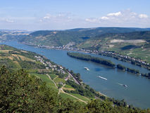 Middle Rhine. Near by Niederheimbach and Lorch royalty free stock photos