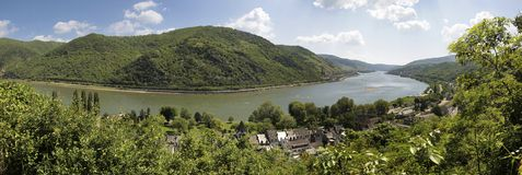 Middle Rhine Valley near Bacharach Royalty Free Stock Photo