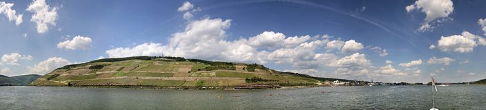 Middle Rhine Valley near Ruedesheim Stock Photography