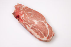 Middle rib chop of pork Royalty Free Stock Photos
