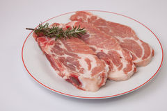 Middle rib chops of pork Stock Images