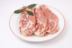 Middle rib chops of pork Stock Image