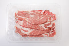 Middle rib chops of pork Royalty Free Stock Image
