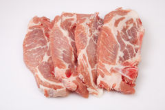 Middle rib chops of pork Stock Photography