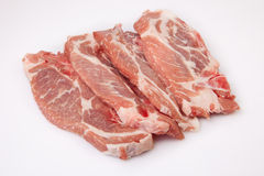 Middle rib chops of pork Stock Photo