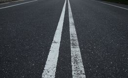Middle of the road Royalty Free Stock Photography