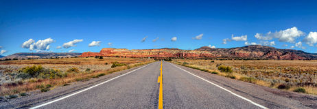 Middle of the road, New Mexico stock photo