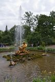 Petergof, Russia, July 2019.Fountain `Triton` in the lower park. stock photography
