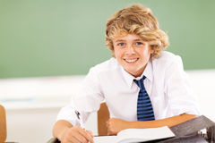Middle school boy Royalty Free Stock Photos