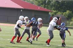 Middle school football teams Stock Photo
