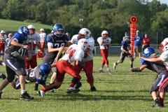 Middle school football teams Stock Photos
