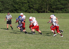 Middle school football teams Stock Photography