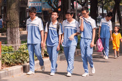 Middle school students in China Stock Images