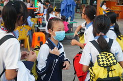 Middle school students home from school, in Shenzhen, China, Asia Royalty Free Stock Photography
