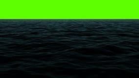 Dark Ocean Sea Horizon on a Green Screen