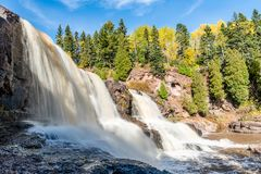 The Middle Section of Gooseberry Falls royalty free stock images