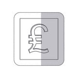 Middle shadow monochrome square with currency symbol of lira italy Royalty Free Stock Photography