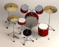 Middle sized drum set Stock Images