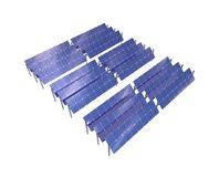Middle solar panel system Stock Images