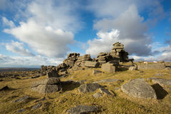 Middle Staple Tor. Dartmoor National Park Devon Uk Royalty Free Stock Photos