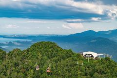 Middle Station of Langkawi Cable Car, Malaysia stock image