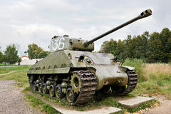 Middle tank Army USA M4 Sherman Stock Image