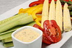 Middle of the vegetables plate Royalty Free Stock Images