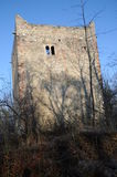 Middle Wartenberg Castle Ruin. The Wartenberg castle ruin is located on a hill above the village of Muttenz. It is one of three castle ruins located on this Royalty Free Stock Photo