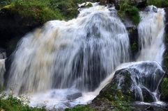 Middle Waterfall in Triberg Stock Photo