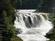 Middle Waterfall at Letchworth State Park. The Middle Waterfalls at the New York State Park stock photo