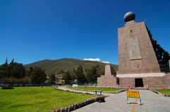 Middle of the world - Mitad del Mundo. This is the middle of the world monument just outside Quito, Ecuador.  GPS 0, 0, 0 on the Equator Royalty Free Stock Images