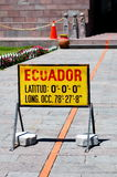Middle of the world - Mitad del Mundo Royalty Free Stock Photos