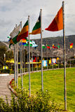 Middle of the world,  Mitad del Mundo, Equator, south america Royalty Free Stock Images