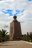 Center Of The World, Mitad Del Mundo, Front View Stock Photo