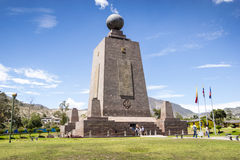 Middle of the World monument in Ecuador Stock Photos