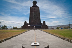 Middle of the world monument royalty free stock photos