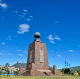 Middle of the world Monument in Quito Royalty Free Stock Photo