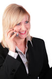 Middleaged businesswoman with cellphone 2 Stock Photography