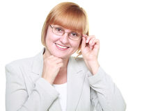 Middleaged kind woman Royalty Free Stock Image