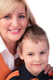 Middleaged woman with boy 2 Royalty Free Stock Images