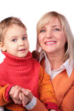 Middleaged woman with kid 4 Royalty Free Stock Photography